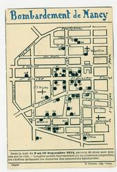 Bombardement de Nancy, dans la nuit du 9 au 10 septembre 1914, environ 80 …