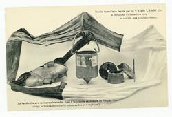 """Bombe incendiaire lancée par un """"Taube"""", à midi 1/2, le Dimanche 27 Décemb…"""