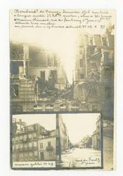 Bombardement de Nancy, janvier 1916 par pièce à longue portée 32 kilomètre…