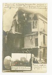 Bombardement de Nancy, janvier 1916, par pièce à longue portée, 32 kilomèt…