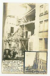 Bombardement du 24 septembre 1916 rue ville vieille n°38 démoli par un 380…