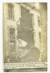 Bombardement de Nancy du vendredi 16 Février 1917 de 9h20 à 10h40 12 obus …