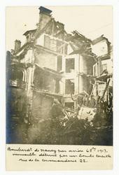 Bombardement de Nancy par avion le 6 octobre 1917. Immeuble détruit par un…