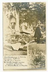 Bombardement de Nancy par avion le 16 octobre 1917 de 18h45 à 20h 60 bombe…