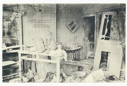 Rue Saint-Dizier, 70. Intérieur du 3e étage  Nancy. Bombardement des 9-10 …