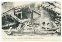 Rue Clodion : intérieur de grenier où il y a eu deux victimes  Nancy. Bomb…