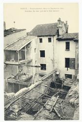 Intérieur de cour pris de la rue Jeannot  Nancy. Bombardement des 9-10 sep…