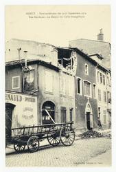 Rue Ste-Anne : la maison du Culte évangélique. Nancy. Bombardement des 9-1…