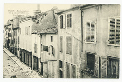 Rue Ste-Anne, Nancy. Bombardement des 9-10 septembre 1914