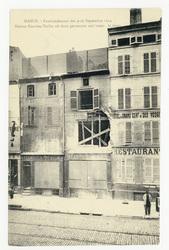 Maison Hanrion-Terlin où deux personnes ont trouv la mort, Nancy. Bombarde…
