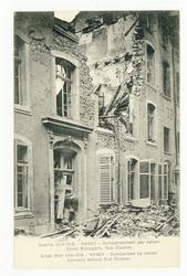 Nancy : bombardement par canon. Ecole ménagère, rue Clodion. Nancy. Bombar…