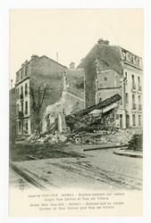 Nancy : bombardement par canon. Angle rue Carnot et rue de Villers. Nancy …