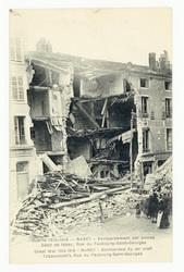 Nancy : bombardement par avions. Débit de tabac, rue du Faubourg-Saint-Geo…