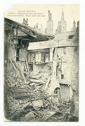Nancy : bombardement par canon. Hôtel Saint-Cène, place Saint Georges, gue…