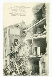 Nancy : bombardement par canon. Grande Rue Ville-Vieille. 5 morts, 12 bles…