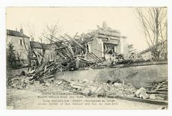Nancy : bombardement par canon. Maison détruite angle des rues Palissot et…