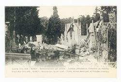 Nancy : bombardement par avions, tombes détruites au cimetière de Préville…