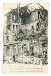 Nancy : bombardement par canon. Ruines de la Maison Henry, Rue du Faubourg…
