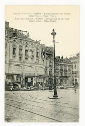 Nancy : bombardement par avions. Hôtel Thiers. Nancy : bombarded by air cr…