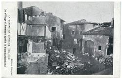 Le village d'Amance après le bombardement : la guerre en Lorraine (1914-19…