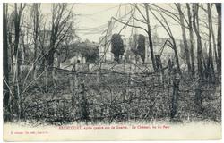 Arracourt, après quatre ans de Guerre. Le Château, vue du Parc