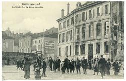 Baccarat : la Mairie incendiée, Guerre 1914-1915