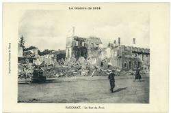 Baccarat. La Rue du Pont, la Guerre de 1914
