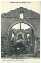 Bernécourt. Intérieur de l'Église, la Guerre en Lorraine, Woëvre