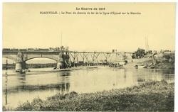 Blainville. Le Pont du chemin de fer de la ligne d'Epinal sur la Meurthe, …