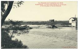 Blainville. Le Pont de fer détruit par les Français. A l'arrière plan, le …