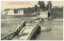 Blainville. Le Pont de fer détruit par les Français, la Guerre en Lorraine…
