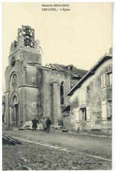 Cercueil. L'Église, Guerre 1914-1915