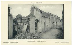 Chenicourt. Rue de la Mairie, Guerre 1914 1915