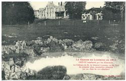 Crévic bombardé par les Allemands : le Château de M. Le Général Lyautey, v…