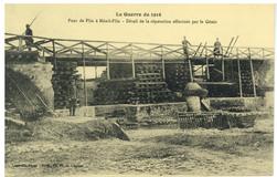 Pont de Flin à Ménil-Flin : détail de la réparation effectuée par le Génie…