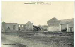 Gellenoncourt. Cour de la Grande Ferme, Guerre 1914-1915