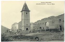 Gellenoncourt. Place de l'Église, Guerre 1914-1915