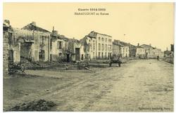 Haraucourt en Ruines, Guerre 1914-1915