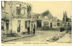 Haraucourt. Grande Rue, prise de l'Église
