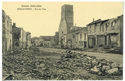 Haraucourt. Rue du Port, Guerre 1914-1915