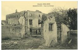 Haraucourt. Cour du Château, Guerre 1914-1915