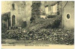 Haraucourt. Ruines du vieux Château