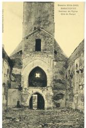Haraucourt. Intérieur de l'Église. Côté du Portail, Guerre 1914-1915