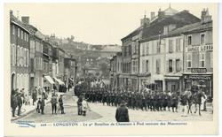 Longuyon : le 9e Bataillon de Chasseurs à Pied rentrant des Manœuvres
