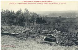 Lunéville. Retranchements allemands sur la Côte des Vignes, près du Châtea…