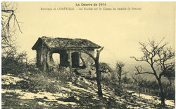 Environs de Lunéville. Les ruines sur le champ de bataille de Frescati, la…