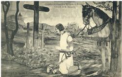 Environs de Lunéville. Chapelle du Cimetière Militaire de Friscati : fresq…