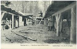 Environs de L... Blockhaus dans la forêt de M… Guerre 1914-1915
