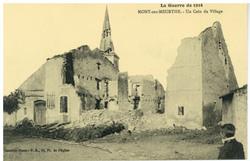 Mont-sur-Meurthe. Un Coin du Village, la Guerre de 1914