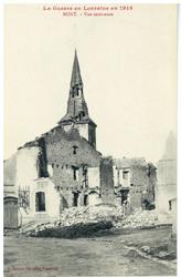 Mont. Vue intérieure, la Guerre en Lorraine en 1914
